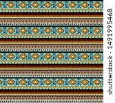 geometric ethnic pattern.... | Shutterstock . vector #1491995468