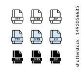 set of document file formats...