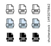 simple vector square file types ...