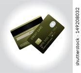 credit card design. vector... | Shutterstock .eps vector #149208032