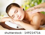 beauty and spa concept   woman... | Shutterstock . vector #149214716