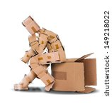 think outside the box concept... | Shutterstock . vector #149218022
