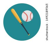 baseball icon concept with flat ...