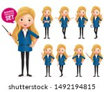 business woman standing vector... | Shutterstock .eps vector #1492194815