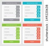 registration form  flat design