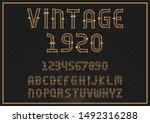 vector vintage label font.... | Shutterstock .eps vector #1492316288
