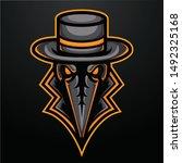 angry reaper mascot logo for...   Shutterstock .eps vector #1492325168