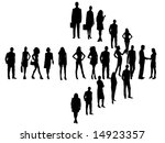 illustration of business people | Shutterstock .eps vector #14923357