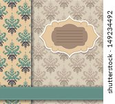 vintage postcard with pretty... | Shutterstock .eps vector #149234492