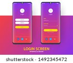 login screen smartphone...