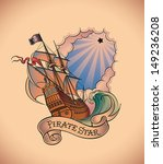 old school styled tattoo of a... | Shutterstock .eps vector #149236208