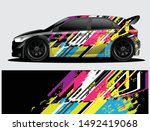 rally car decal graphic wrap...   Shutterstock .eps vector #1492419068