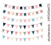 garland flags. printable... | Shutterstock .eps vector #1492456472
