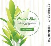 young aspidistra elatior plant...   Shutterstock .eps vector #1492458878