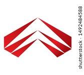 arrows vector illustration icon ...   Shutterstock .eps vector #1492484588