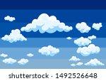 Background White Clouds On Blu...