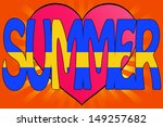 illustration of summer love... | Shutterstock . vector #149257682
