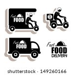 delivery food over white... | Shutterstock .eps vector #149260166
