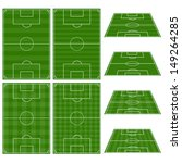 set of football fields with... | Shutterstock .eps vector #149264285