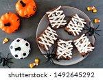 Halloween Mummy Brownies  Top...