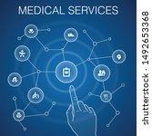 medical services concept  blue...
