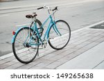 Women's Bicycle Parked On The...
