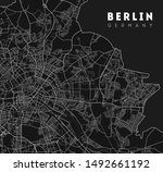 berlin map. detailed poster... | Shutterstock .eps vector #1492661192