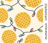 cute seamless pattern with... | Shutterstock .eps vector #1492696922