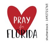 Hand Drawn Pray For Florida...