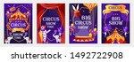 set of vector cartoon templates ... | Shutterstock .eps vector #1492722908
