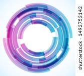 geometric frame from circles ... | Shutterstock .eps vector #1492753142