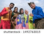Small photo of Seremban, Malaysia - 31/8/2019 : Multi cultural and races in Malaysia during the state celebration of the 62nd Independence/National Day of Malaysia Malaysia achieved its independence on the 31/8/1957