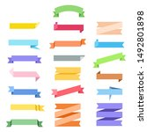 set of colour ribbon label in...   Shutterstock .eps vector #1492801898