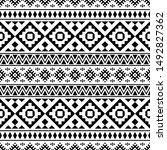 moroccan vector seamless... | Shutterstock .eps vector #1492827362