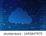 2d rendering cloud computing ... | Shutterstock . vector #1492847975