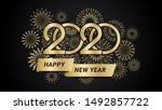 2020 happy new year... | Shutterstock .eps vector #1492857722