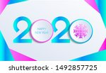 2020 new year vector... | Shutterstock .eps vector #1492857725