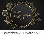happy new year illustration.... | Shutterstock .eps vector #1492857728