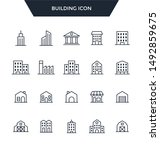 building icon set.web icons and ... | Shutterstock .eps vector #1492859675