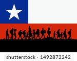 silhouette of depressed... | Shutterstock .eps vector #1492872242
