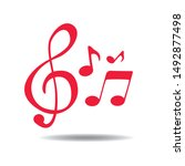 music note element icon vector... | Shutterstock .eps vector #1492877498