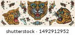 tigers. old school tattoo... | Shutterstock .eps vector #1492912952