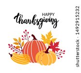 autumn festival invitation.... | Shutterstock .eps vector #1492915232