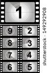 film countdown numbers. vector... | Shutterstock .eps vector #149292908