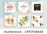 set of sale banner template... | Shutterstock .eps vector #1492938668