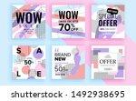 set of sale banner template... | Shutterstock .eps vector #1492938695