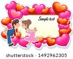 romantic card with couple... | Shutterstock .eps vector #1492962305