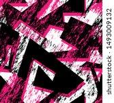 abstract urban seamless pattern ... | Shutterstock .eps vector #1493009132