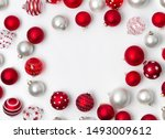 red and white matte christmas... | Shutterstock . vector #1493009612