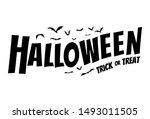 happy halloween text banner ...   Shutterstock .eps vector #1493011505